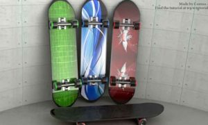 Skateboard Modeling and Texturing in 3ds Max