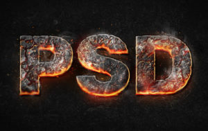 Create Magma Hot Text in Photoshop