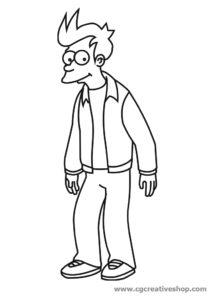 Fray - Futurama disegno da colorare