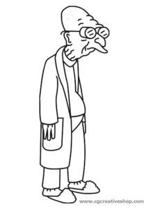 Farnsworth - Futurama disegno da colorare