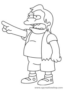 Nelson Muntz, personaggio Simpson da colorare