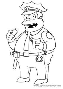 Commissario Winchester, disegno da colorare
