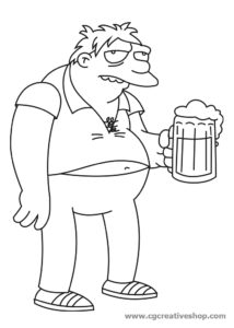 Barney Gamble, coloring pages