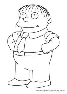Ralph Winchester dei Simpson, disegno da colorare