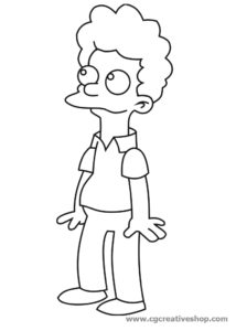 Rod Flanders personaggio Simpson da colorare