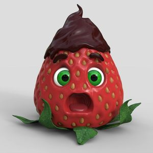 Create a Strawberry Character with ZBrush and Keyshot