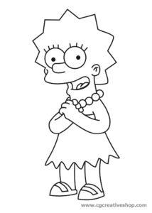 Lisa Simpson, disegno da colorare