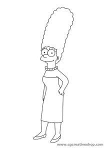 Marge Simpson, disegno da colorare