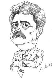 Achille Occhetto, caricatura