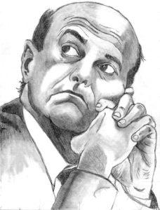 Disegno a matita di Pier Luigi Bersani del PD