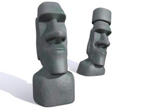 3d Model free Moai statues of Easter Island