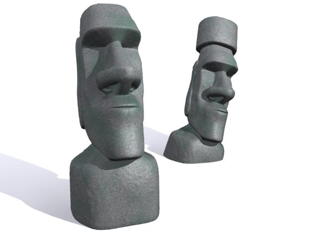 3d Model free Moai statues of Easter Island