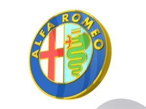 Alfo Romeo Logo cars 3d Free download