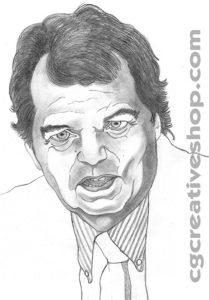 ritratto a matita di Renato Brunetta del PDL