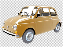 Italian Car Fiat 500 Free PSD download