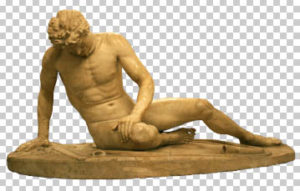 The Dying Gaul (Galata Morente) Statue Free PSD