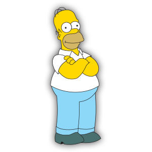 Homer Simpson Free Vector download