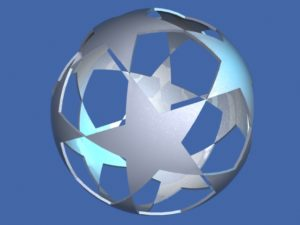 Star Ball Logo Champions League 3d Free