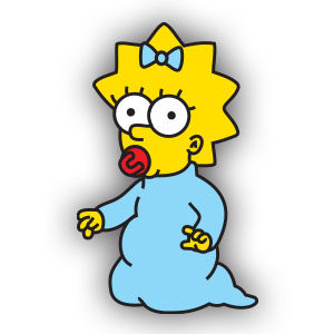 Maggie Simpson Free Vector download