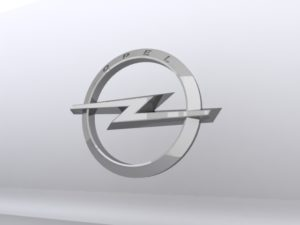 Metallic Opel Logo 3D Free