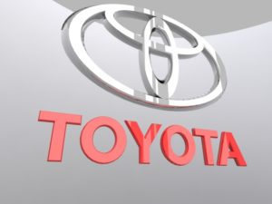 Realistic Toyota Logo 3D Free download
