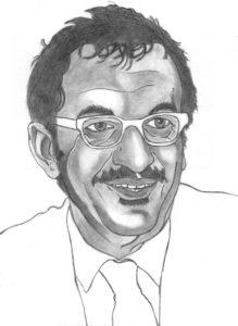 Disegno a matita di Roberto Maroni della Lega Nord