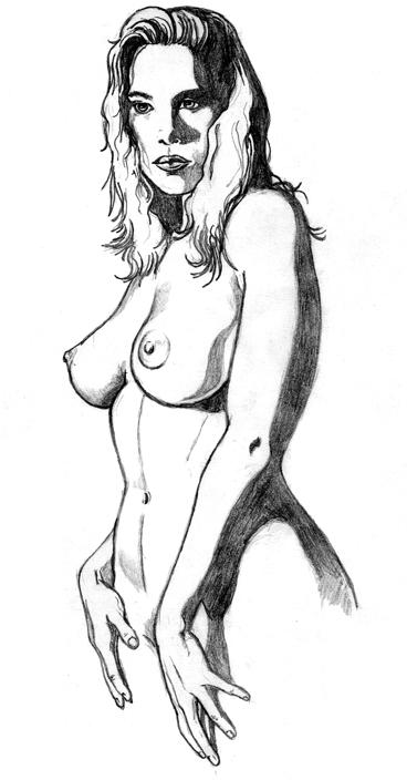 Nice pencil portrait of a woman