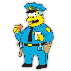 Clancy Wiggum (The Simpson) Free Vector download