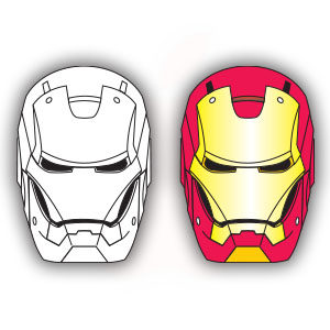 Iron Man (Marvel Comics) Helmet Free Vector download