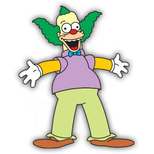 Krusty the Clown (The Simpson) Free Vector downloadKrusty the Clown (The Simpson) Free Vector download