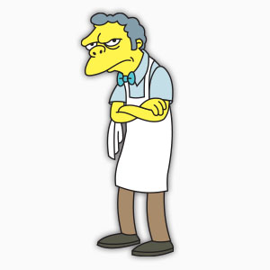 Moe Szyslak (The Simpson) Free Vector download