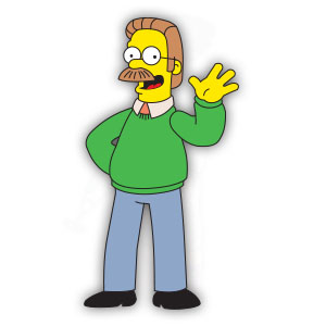 Ned Flanders (The Simpson) Free Vector download
