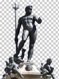 Neptune Statue Fountain Bologna PSD Free download