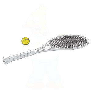 Tennis Racket (sport equipment) Free Vector download