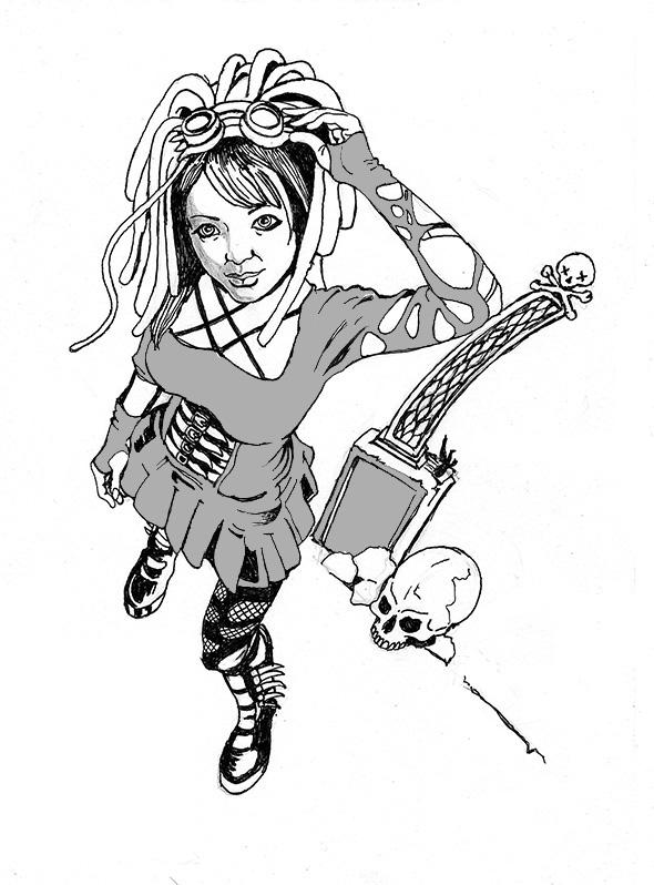 Disegno di ispirazione Manga in stile fumetto dark