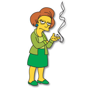 edna krabappel the simpson series