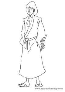 Goemon Ishikawa (Lupin III) disegno da colorare