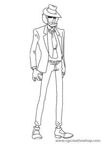 Jigen Daisuke, amico e socio di Lupin III disegno da colorare
