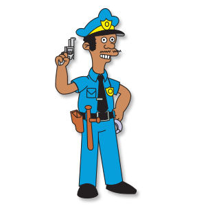 Lou Policeman (The Simpsons Series) Free Vector download