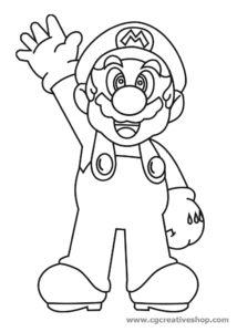 Super Mario Bros, disegno da colorare