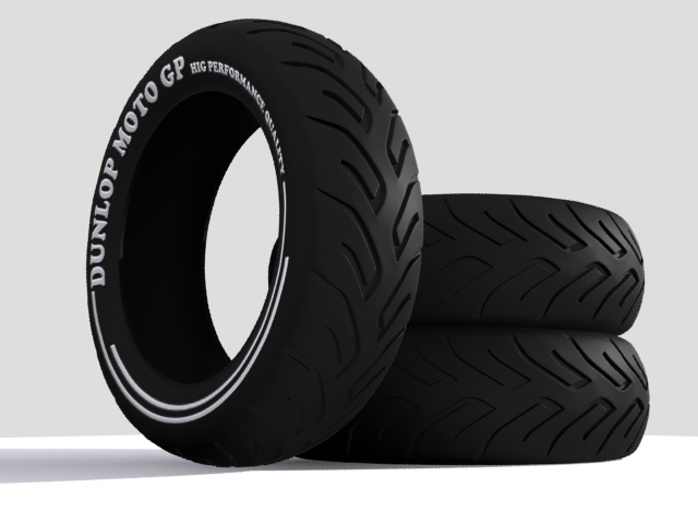 3D Tire Motorcycle Object Free download