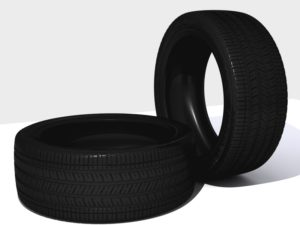 Detailed 3D Car Tyre Object Free download