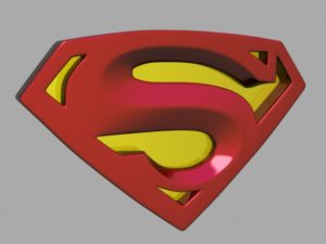 Superman Logo 3D Free Object download