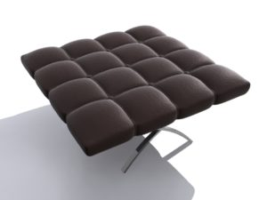 3D leather stool free download