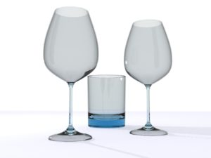 wine glass object 3d free download