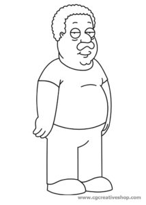 Cleveland Brown (Cleveland Show) coloring pages