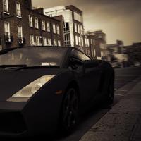 Lamborghini Change color Photoshop