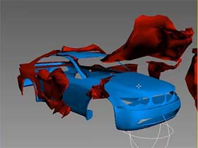 ripper paint car in 3ds max