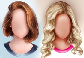 hair painting in Photoshop
