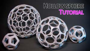 hollow sphere in 3ds max